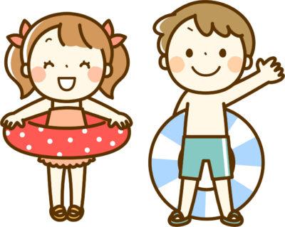子供と浮き輪