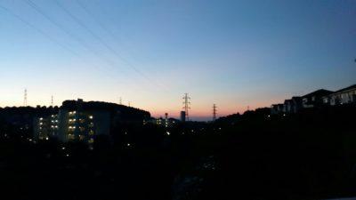 朝日の昇る