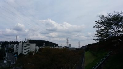 会下山橋からの雲