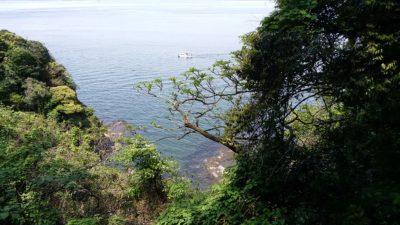 江ノ島から見た海