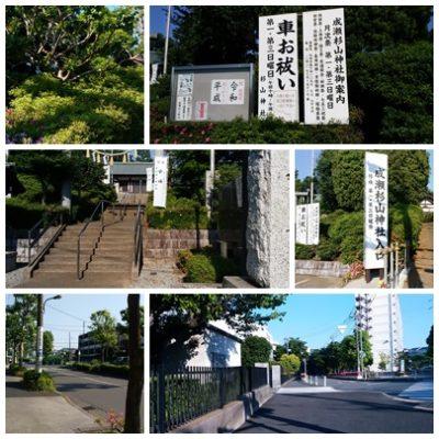 杉山神社と車道