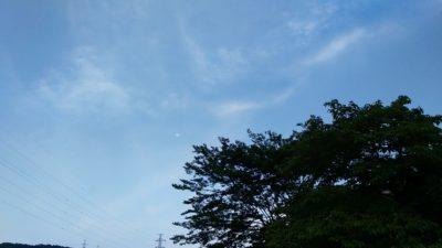 夕方会下山橋から見た月