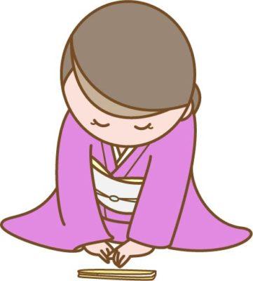 着物姿の女性のお辞儀